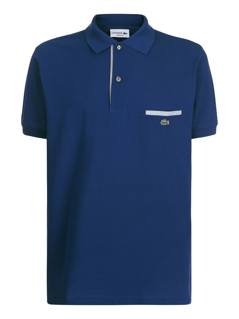Men's Lacoste Contrast Pocket Polo Shirt, Ink