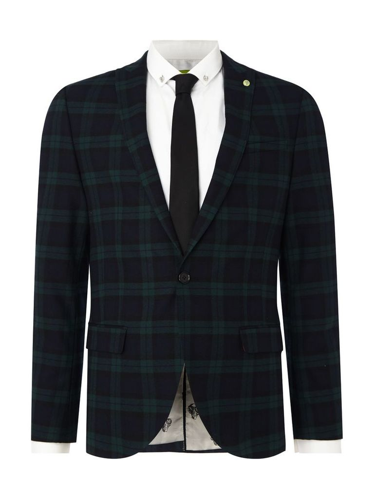 Men's Noose and Monkey Hogarth suit jacket, Green