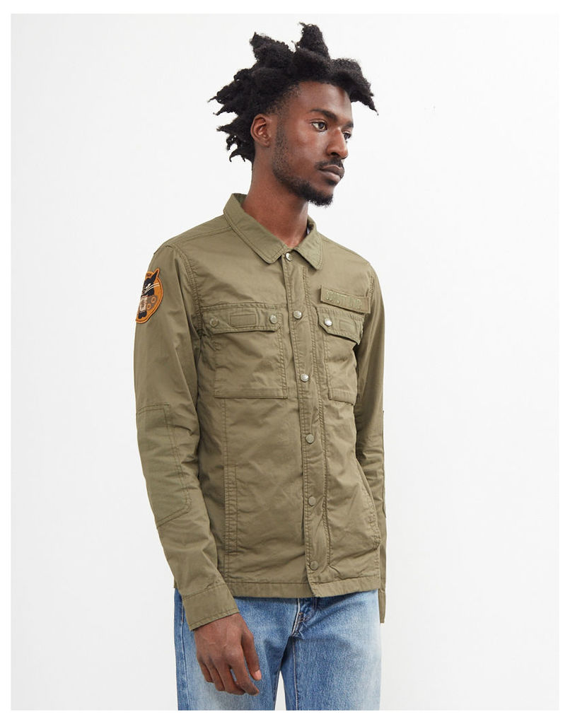 Schott Fitted Army Jacket Green