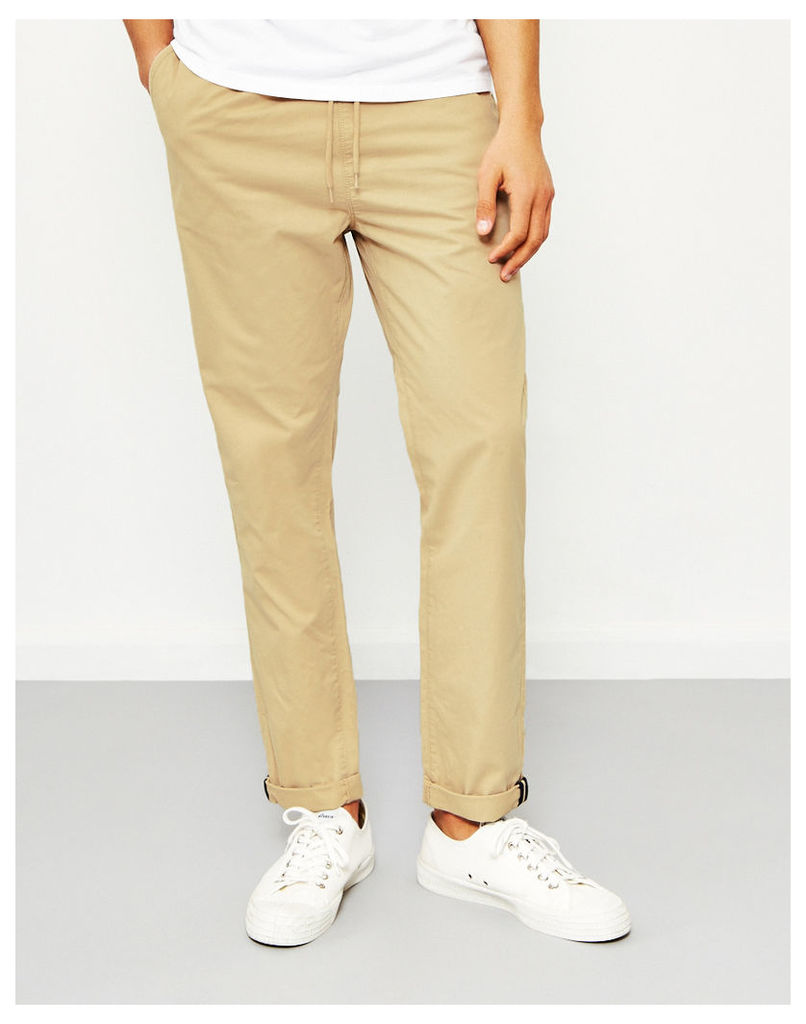 The Idle Man Relaxed Cotton Trouser Stone