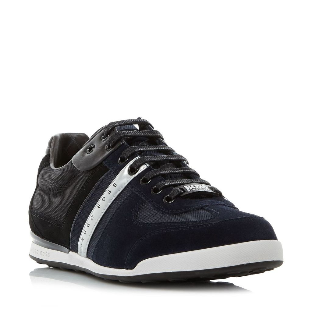 Hugo Boss Akeen Mixed Material Trainers, Navy