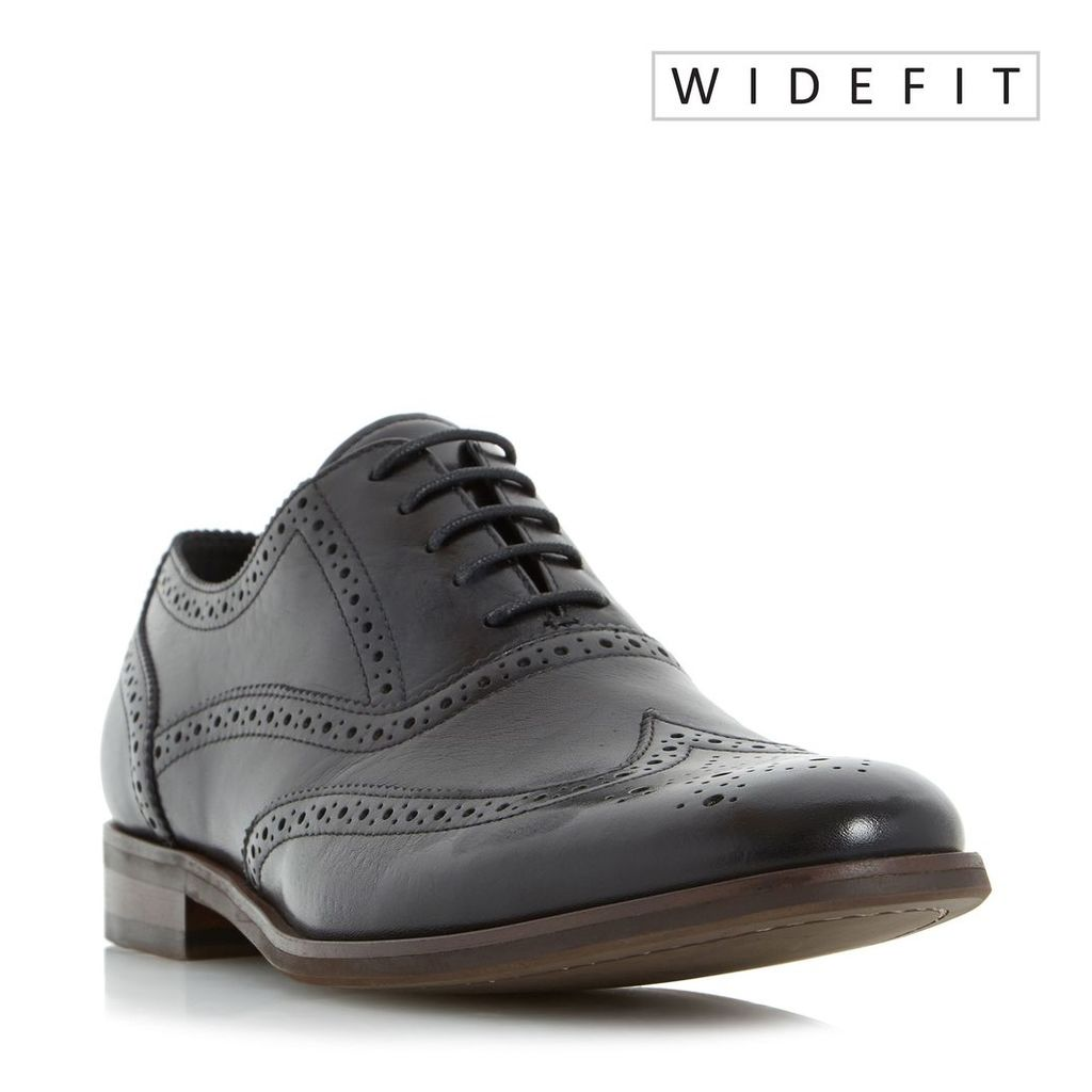 Dune Wrugby Wide Fit Oxford Formal Brogues, Black
