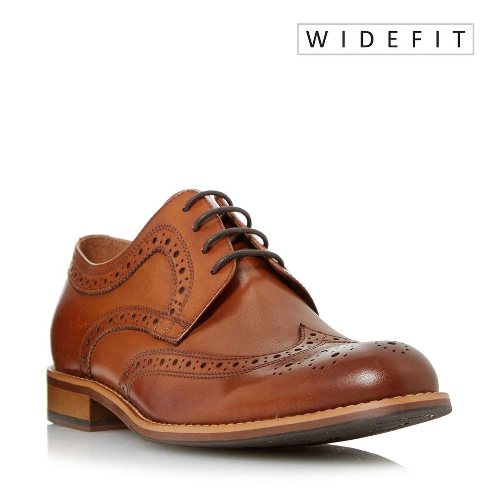 Dune Wradcliffe Wide Fit Traditional Brogues, Tan