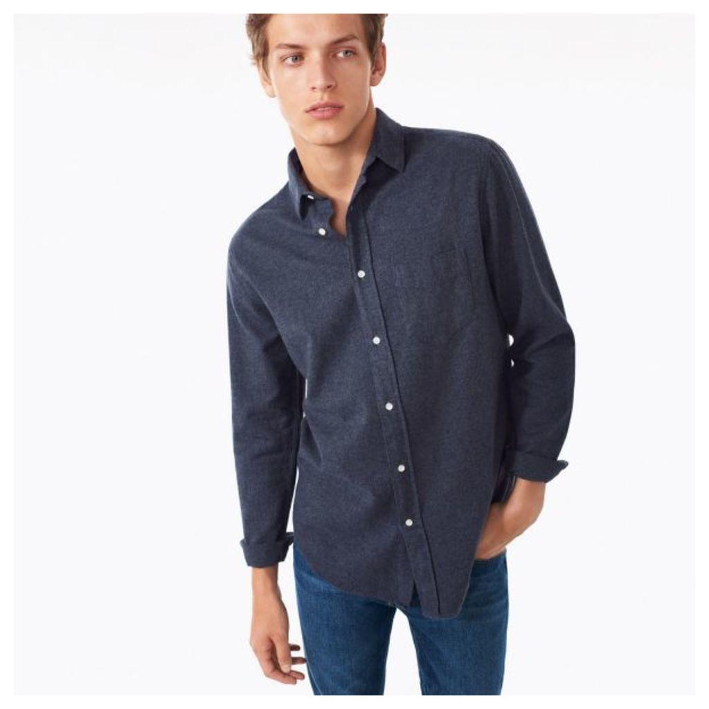 Mélange Twill Shirt - Navy
