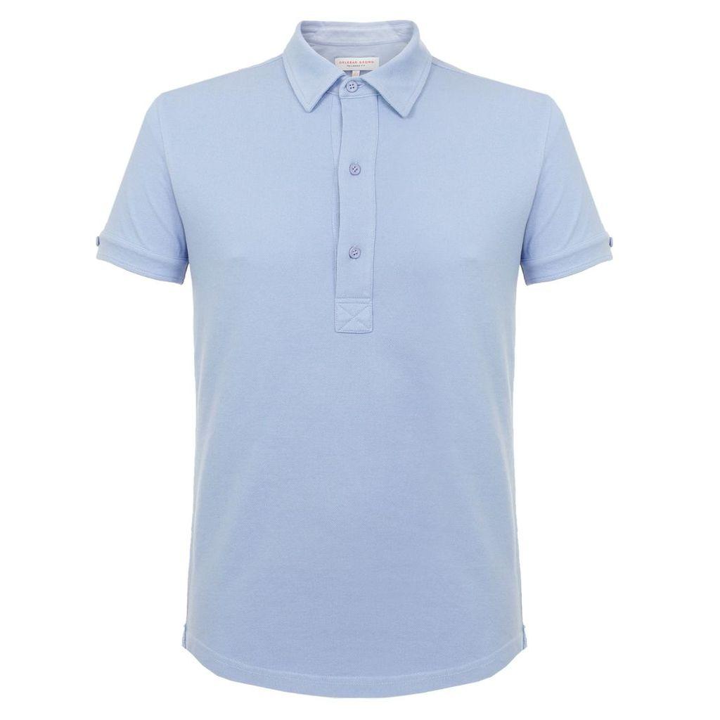 Orlebar Brown Sebastian Tailored Blue Ash polo Shirt 264952