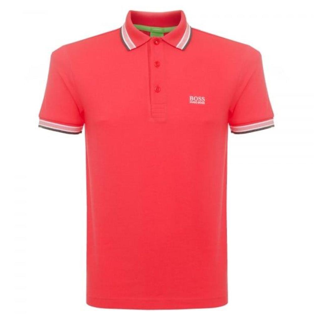 Boss Green Bright Pink Paddy Polo Shirt 5032557