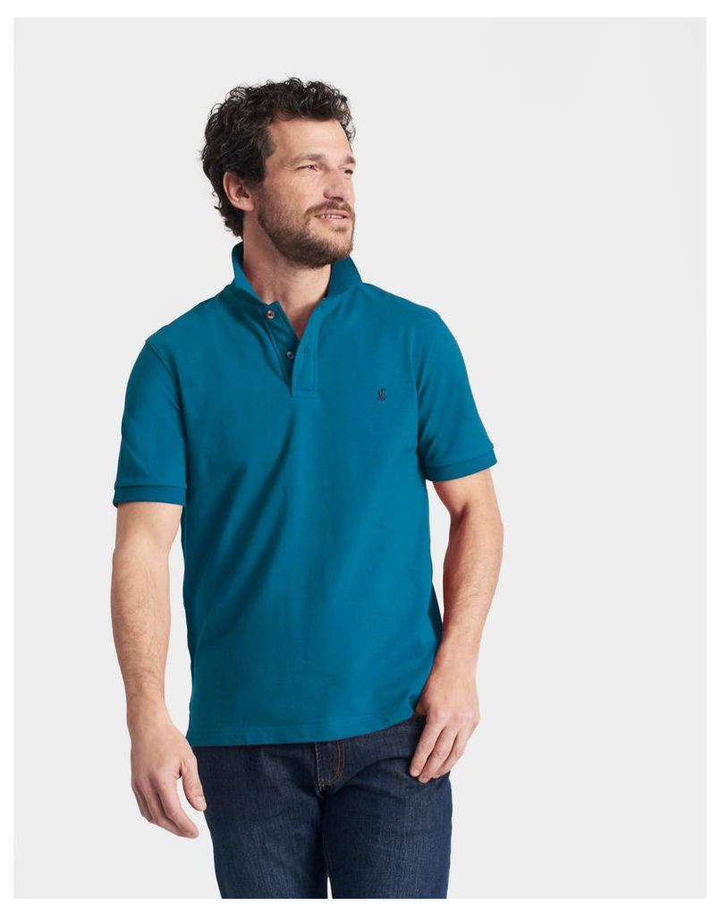 Teal Woody classic Fit Polo Shirt  Size M | Joules UK