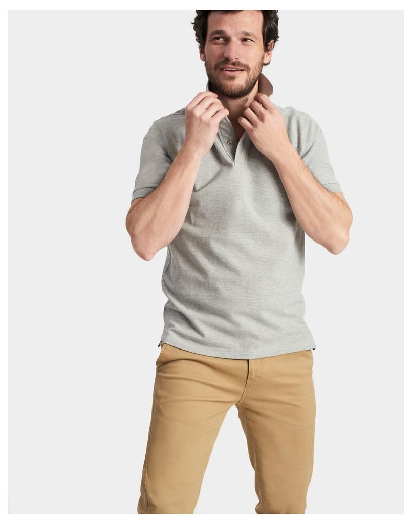 Grey Marl Woody classic Fit Polo Shirt  Size XXL | Joules UK