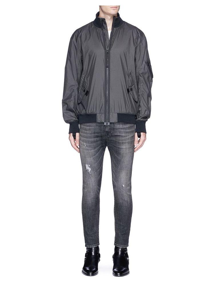 Nylon seersucker track jacket