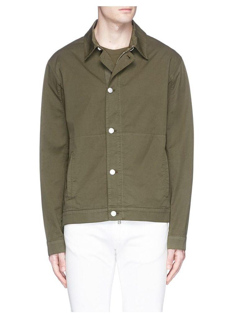 Outseam lace twill jacket