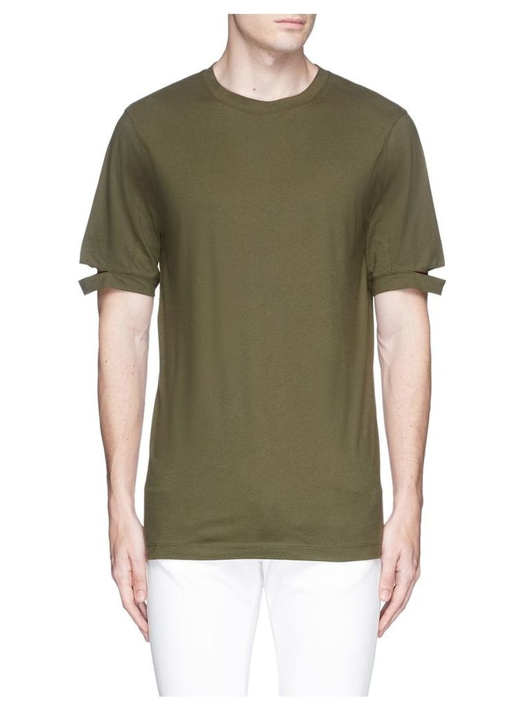 Cutout cuff T-shirt