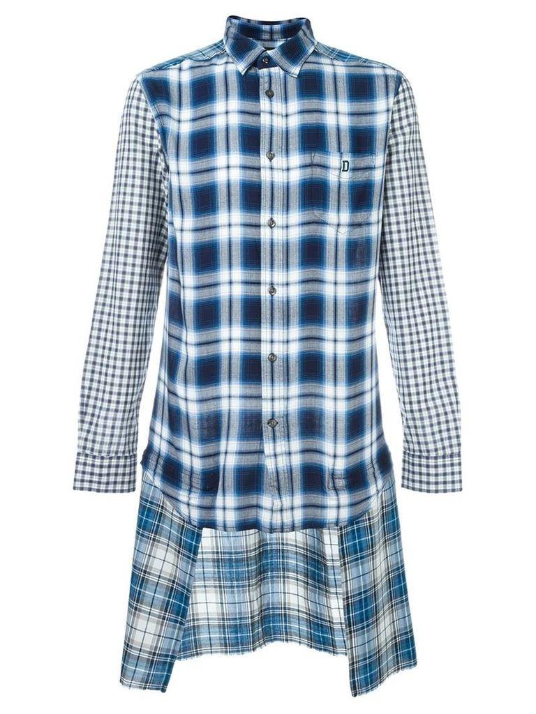 Diesel - 'S-Hum' shirt - men - Cotton/Rayon - L, Blue