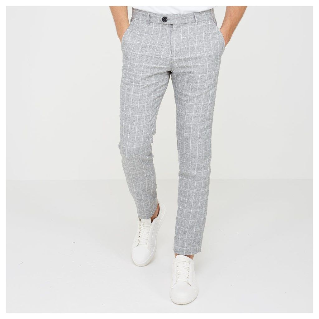 Checked Trouser - Light Grey