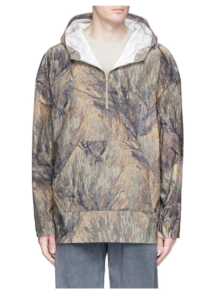 Tree print oversized ripstop hoodie
