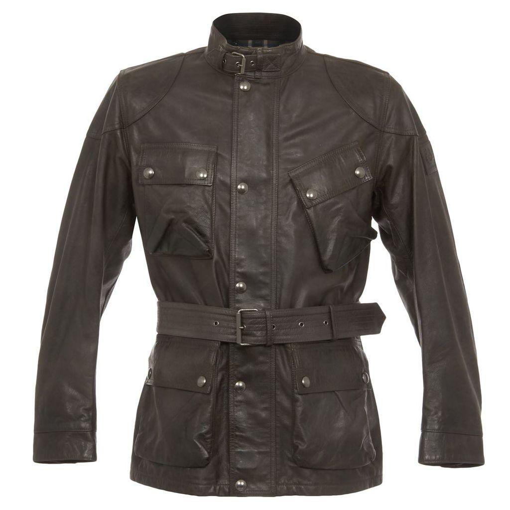 Belstaff Panther Leather Anthracite Jacket 71120006-Black