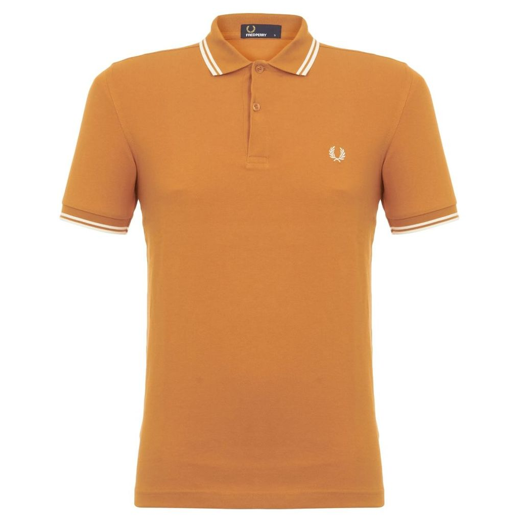 Fred Perry Twin Tipped Amber Polo M3600