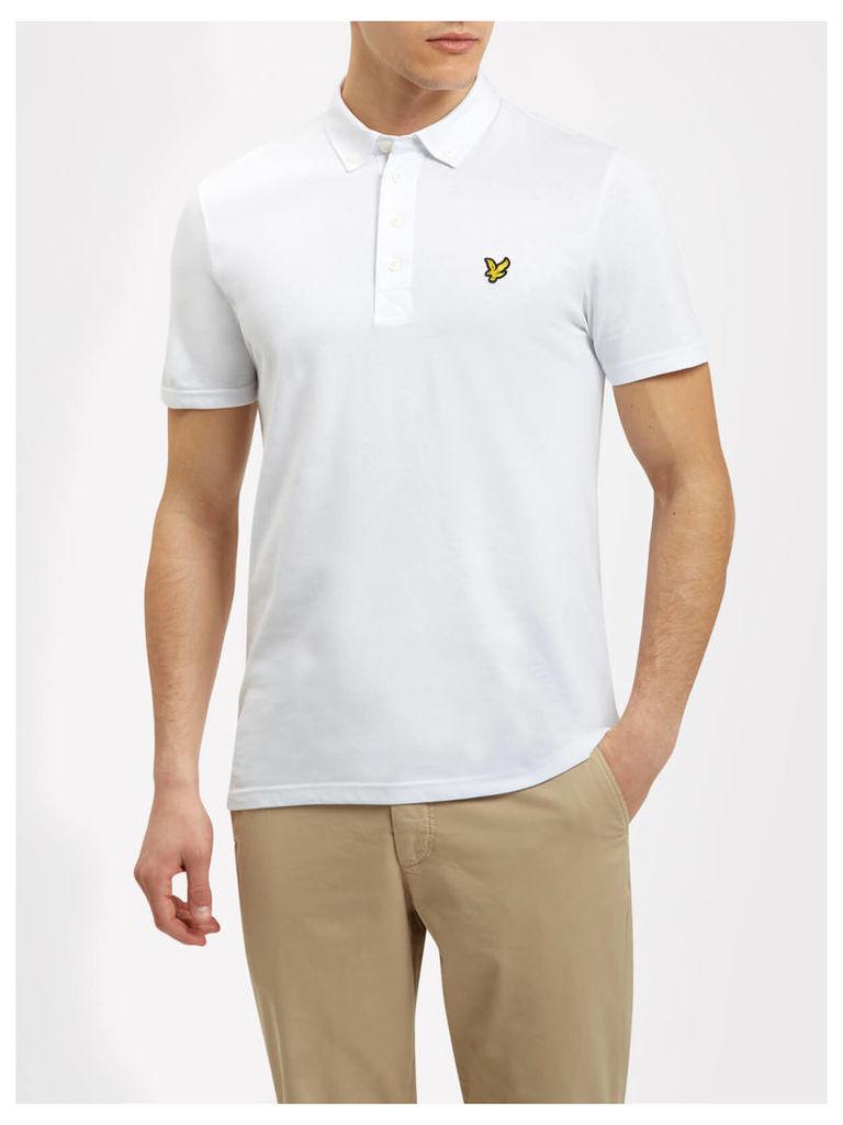 Lyle & Scott Woven Collar Polo Shirt