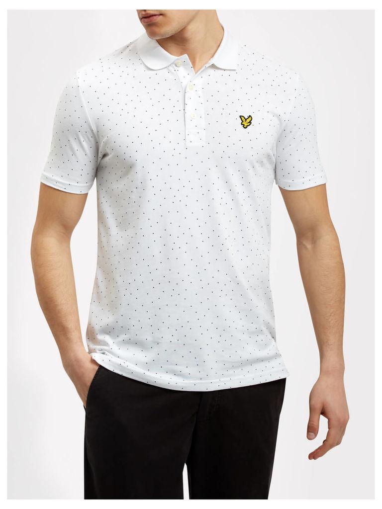 Lyle & Scott Mini Dot Pattern Polo Shirt