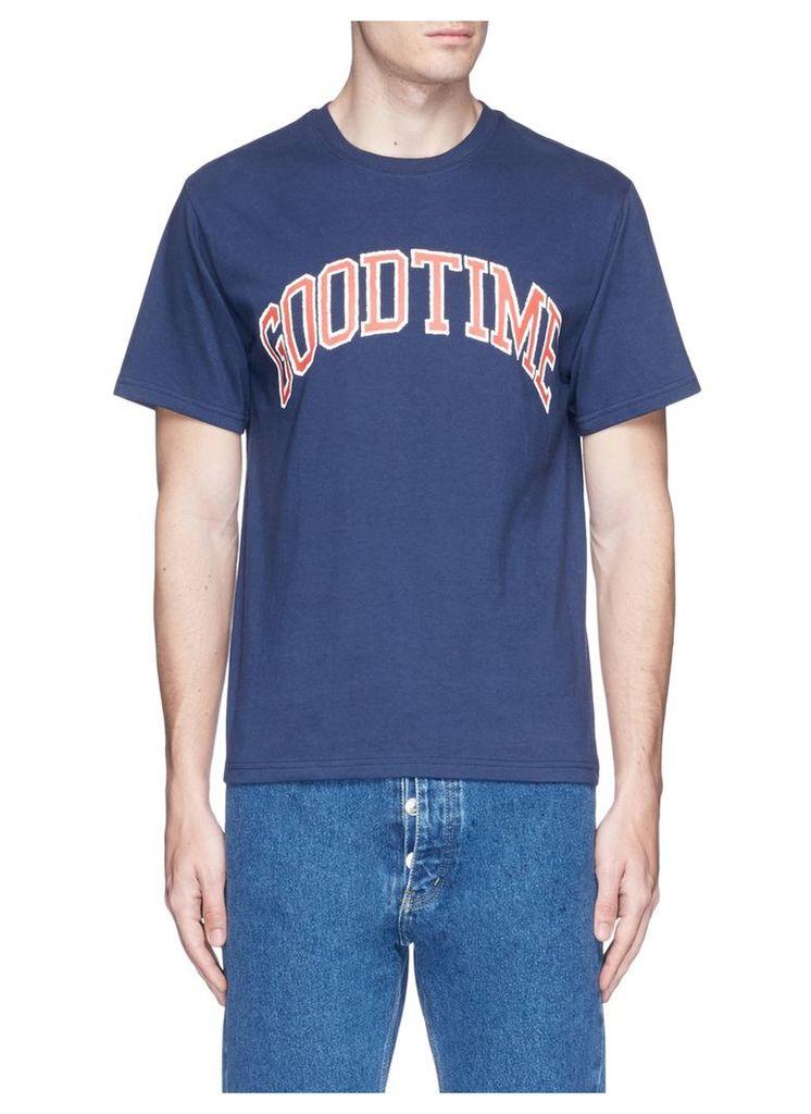 'College' logo print cotton T-shirt