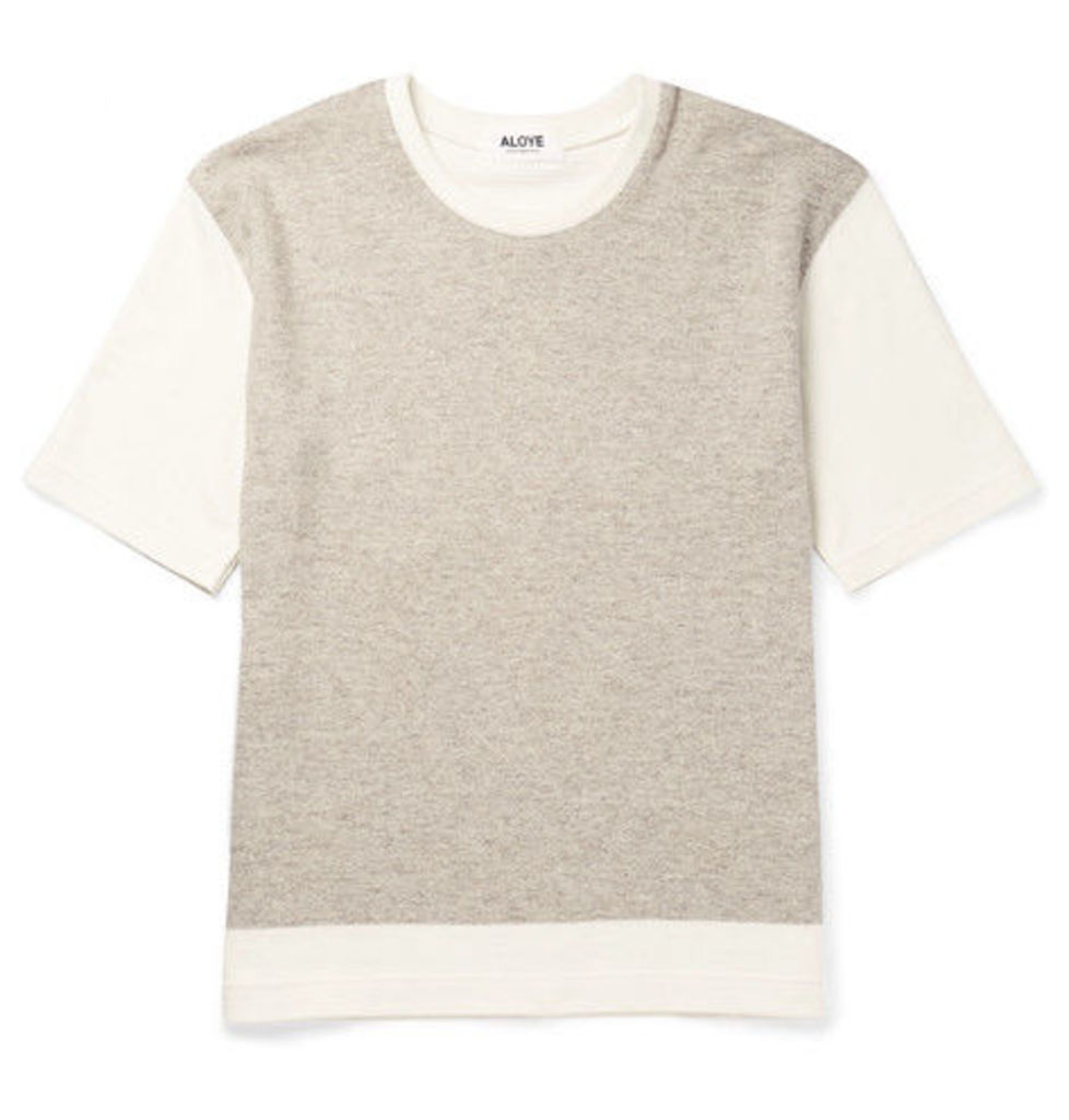 + G.f.g.s. Colour-block Knitted Cotton And Yak-blend T-shirt