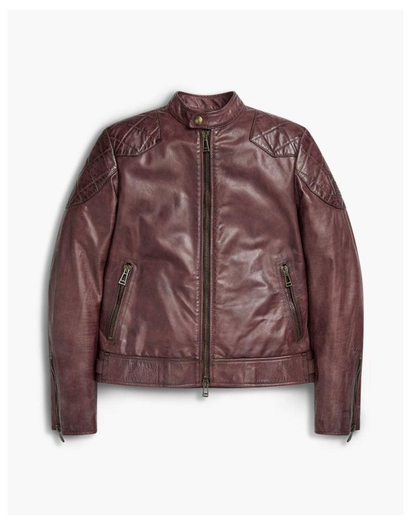Belstaff Outlaw Blouson Jacket Oxblood Red