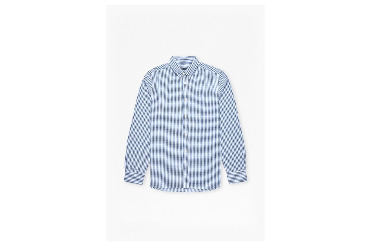 Checked And Striped Shirt - blue gingham
