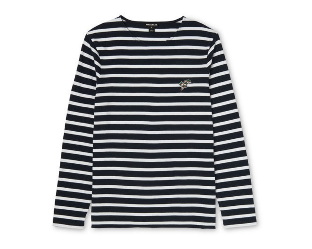 Breton Long Sleeve Patched Tee