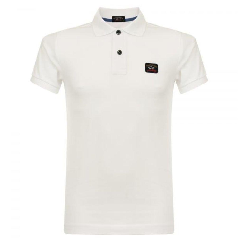 Paul and Shark White Pique Polo Shirt C1P11098SFI
