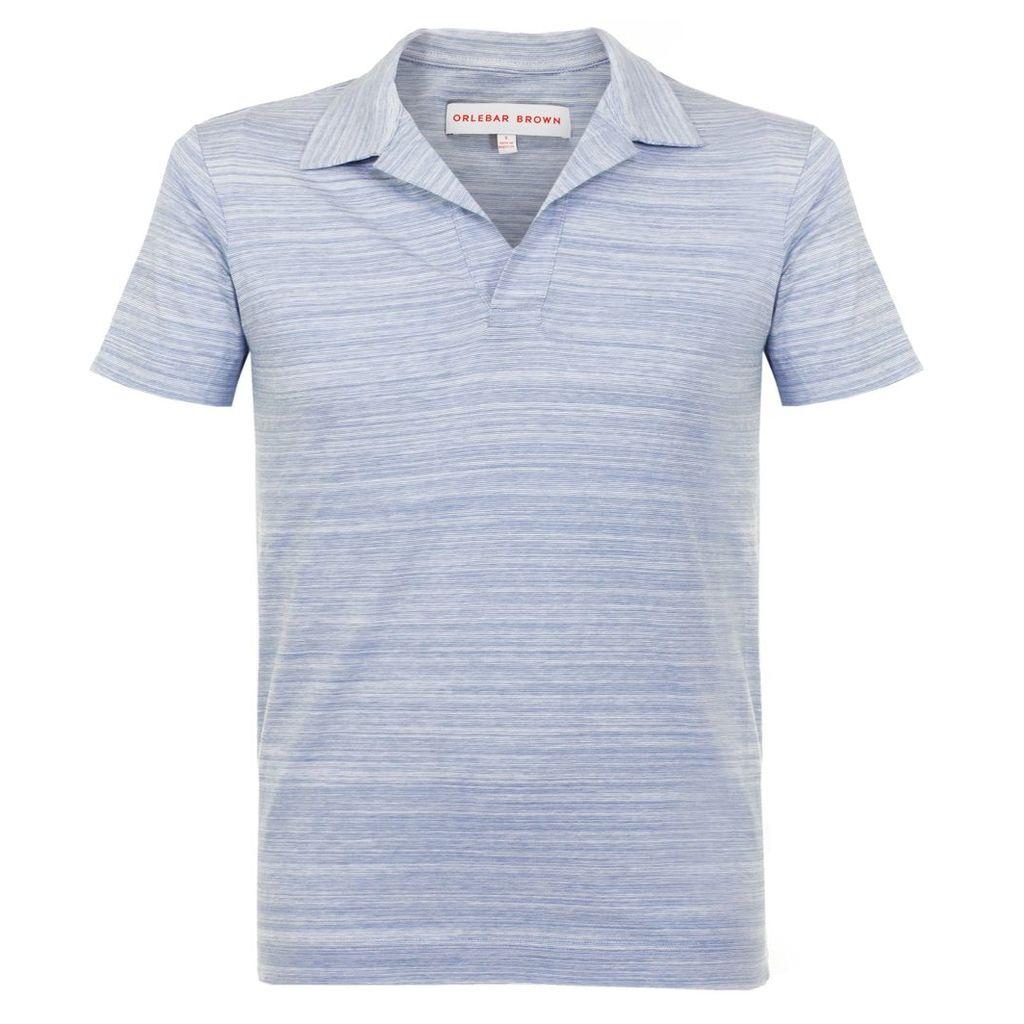 Orlebar Brown Felix Fine Stripe Bluestone  Polo Shirt 264982