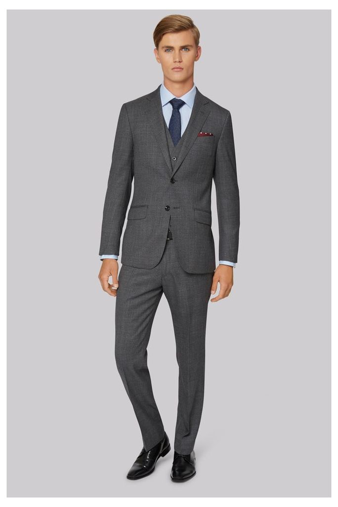 Hardy Amies Tailored Fit Charcoal Melange Jacket