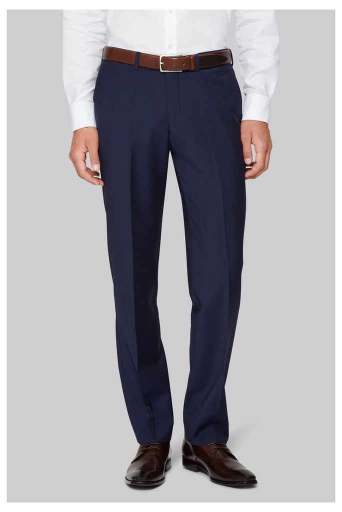 Hardy Amies Tailored Fit Blue Trouser