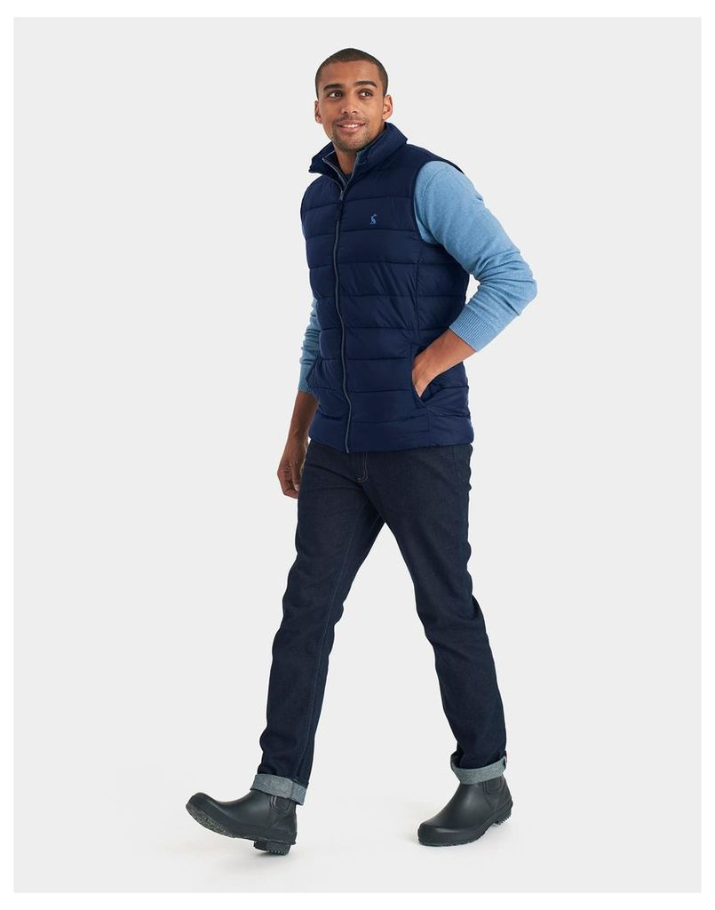 Marine Navy Go to Padded Gilet  Size L | Joules UK