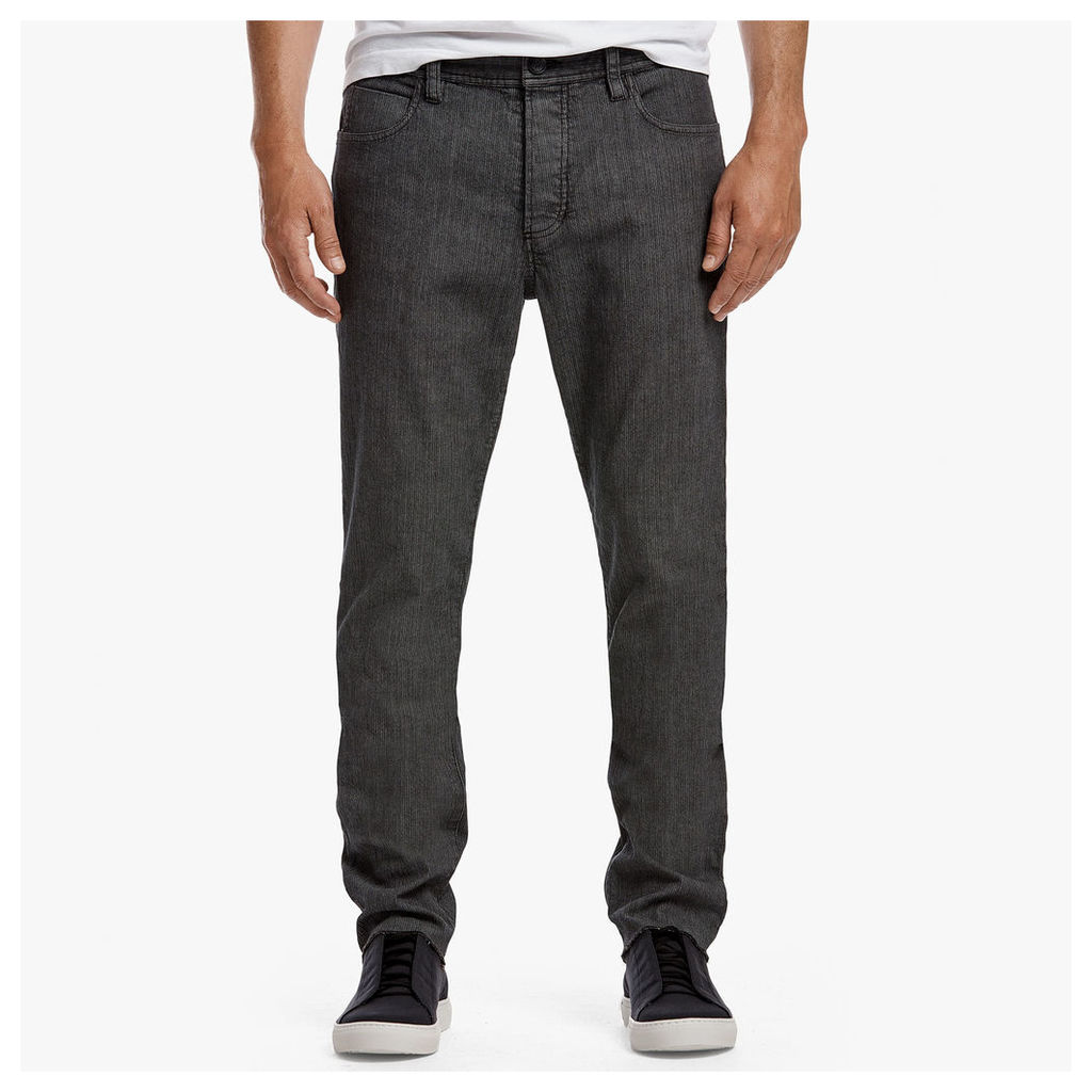 TEXTURED HERRINGBONE 5-POCKET PANT