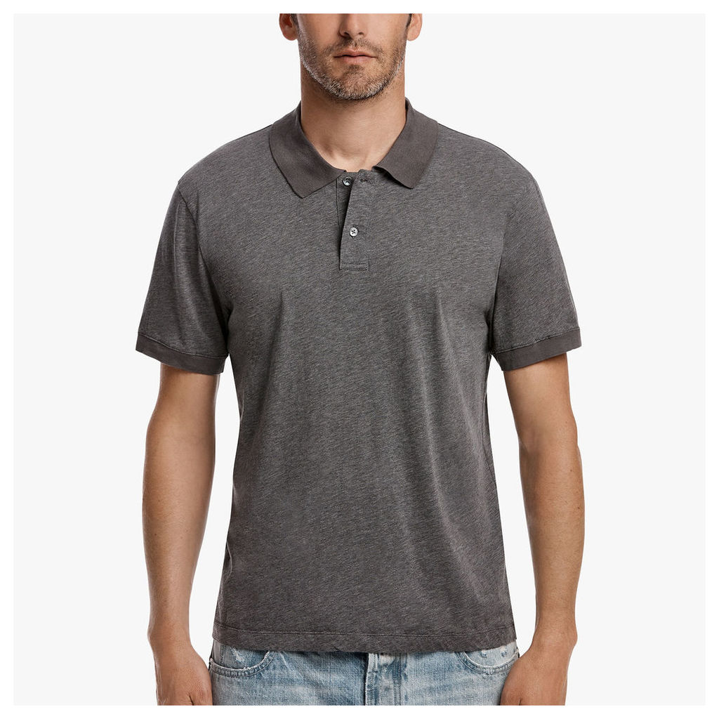 COTTON CASHMERE JERSEY POLO