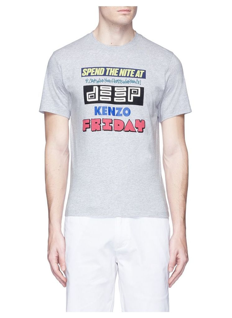 'SPEND THE NITE AT DEEP' print T-shirt