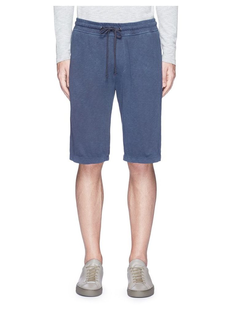 Garment dyed French terry sweat shorts