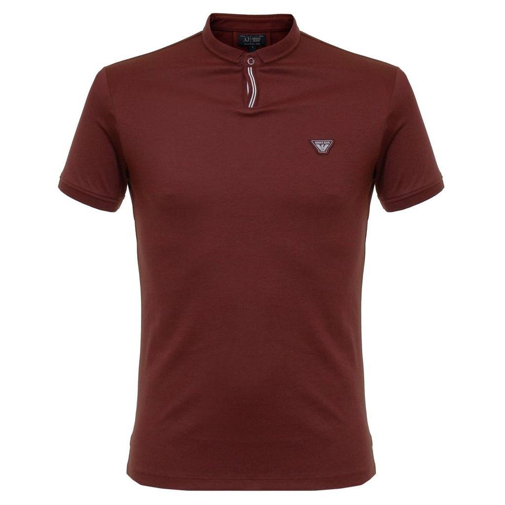 Armani Jeans Bordeaux Polo Shirt 6X6F19