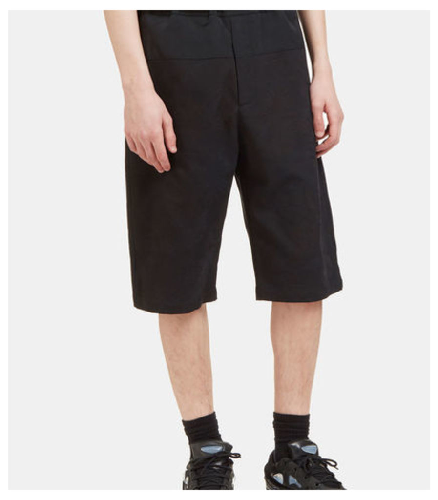 Contrast Panelled Jacquard Shorts