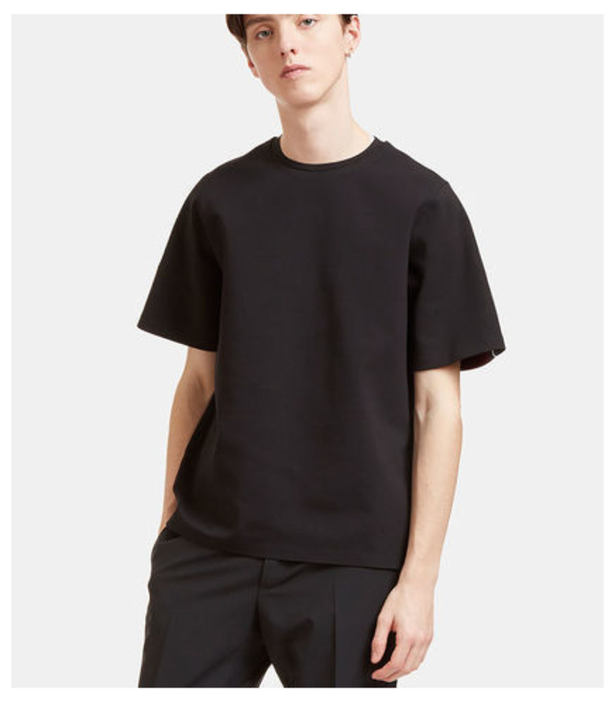 Oversized Contrast Knit Panel T-Shirt
