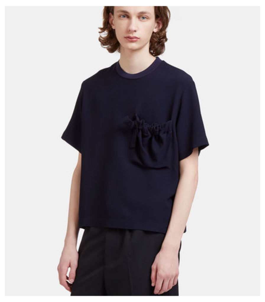 Delila Oversized Ruched Patch Pocket T-Shirt