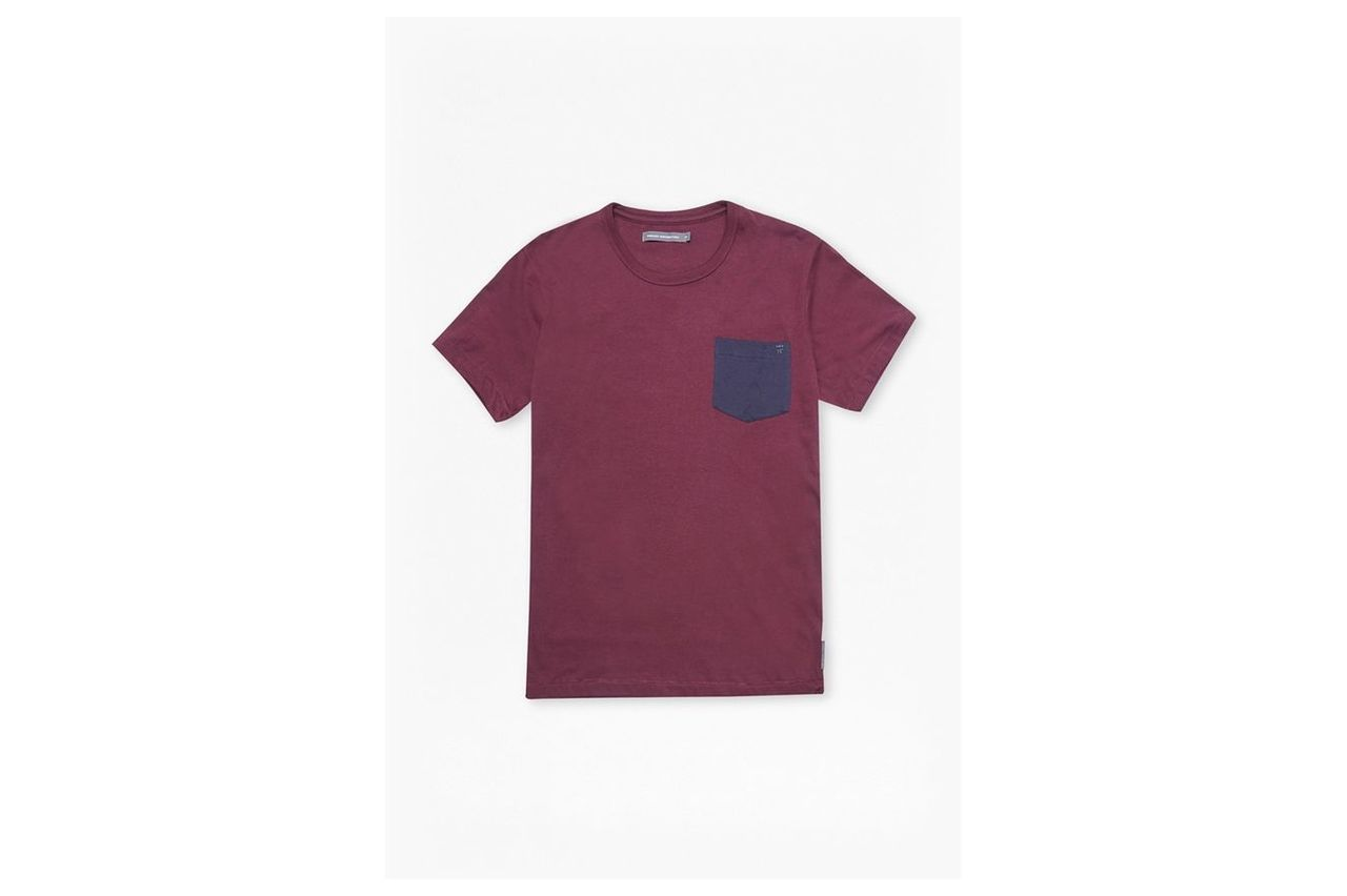 Contrast Pocket Tee - chateaux/marine