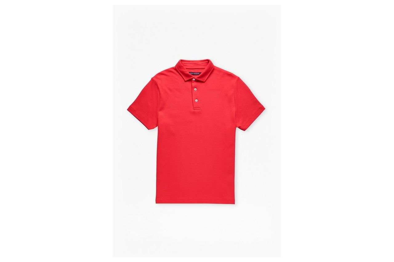 Central Crepe Polo Shirt - tomato red