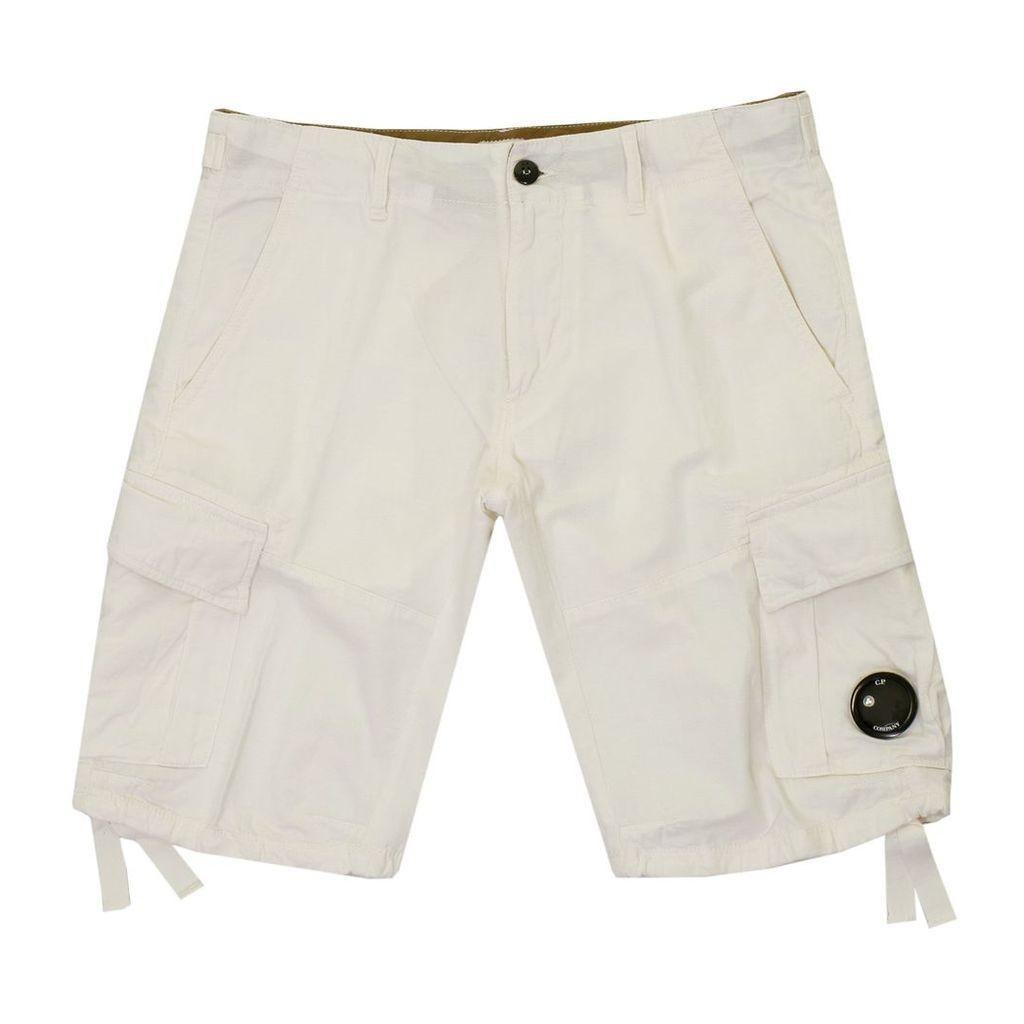 Cp Company White Bermuda Shorts B11503101