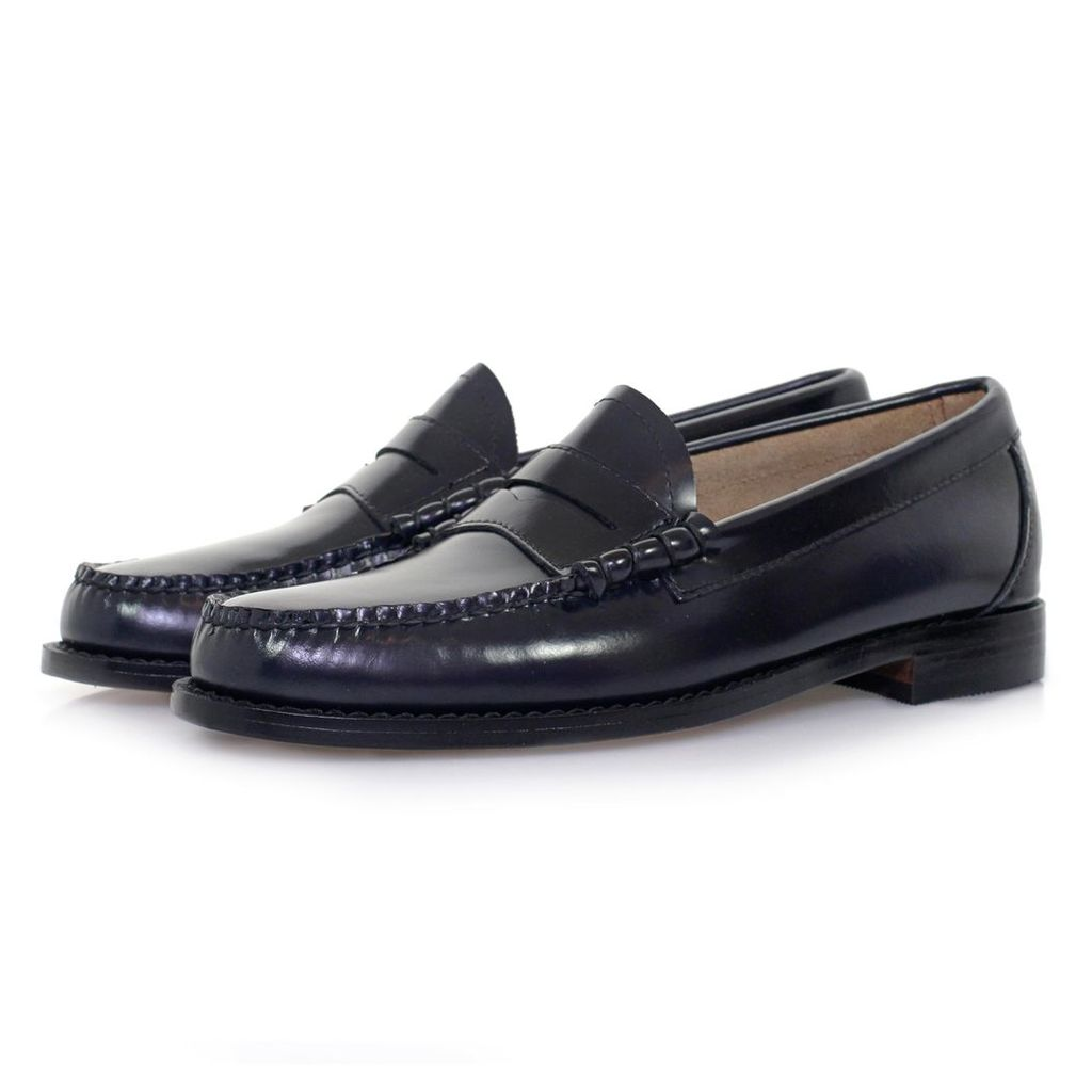 Bass Weejun Larson Navy Loafer Shoe BA11010AA