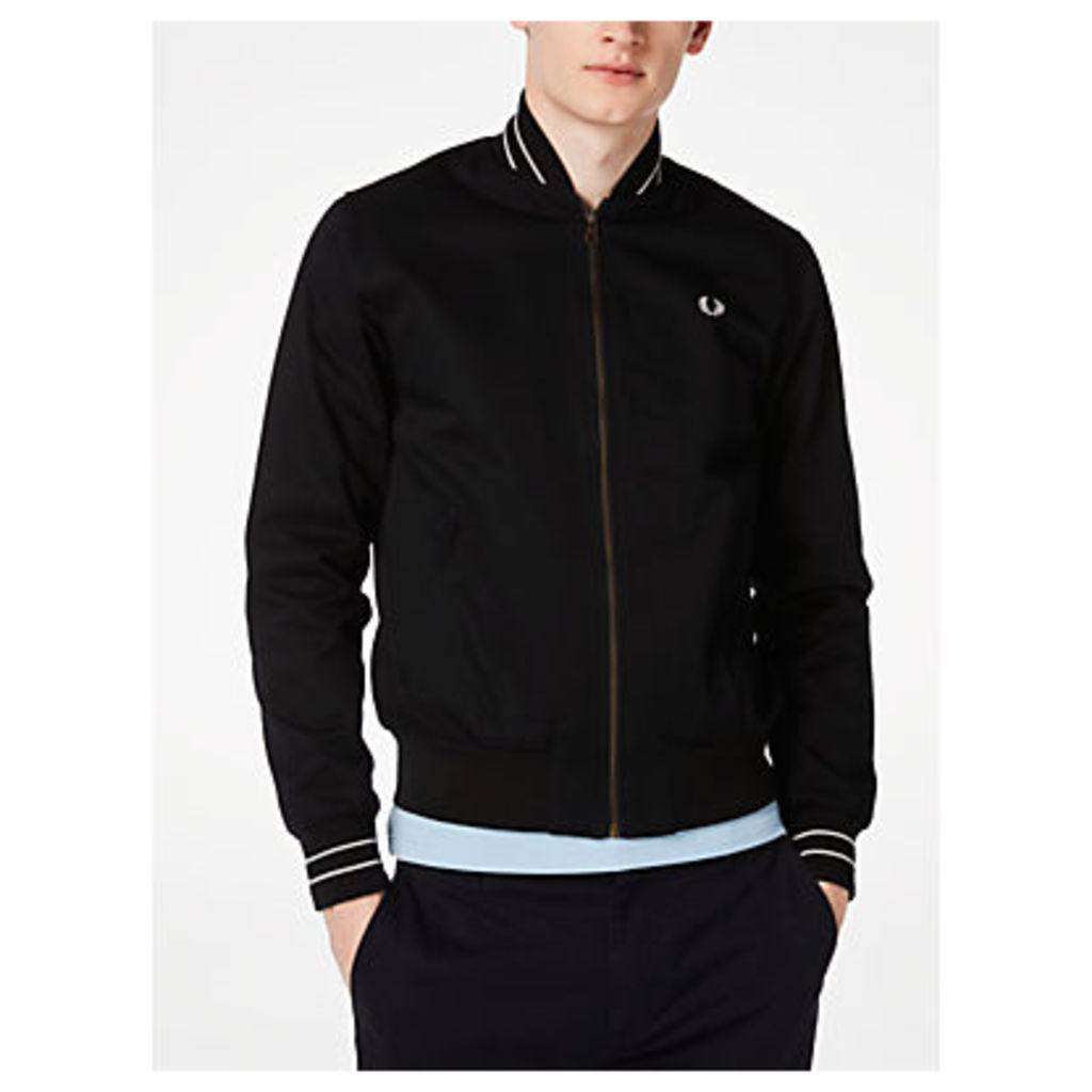 Fred Perry Cotton Bomber Jacket, Black