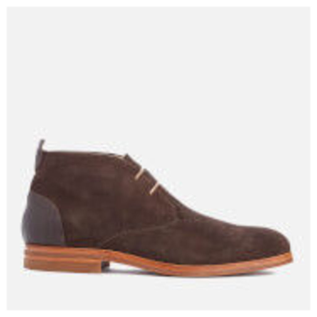 H Shoes by Hudson Men's Matteo Suede Chukka Boots - Brown - UK 11