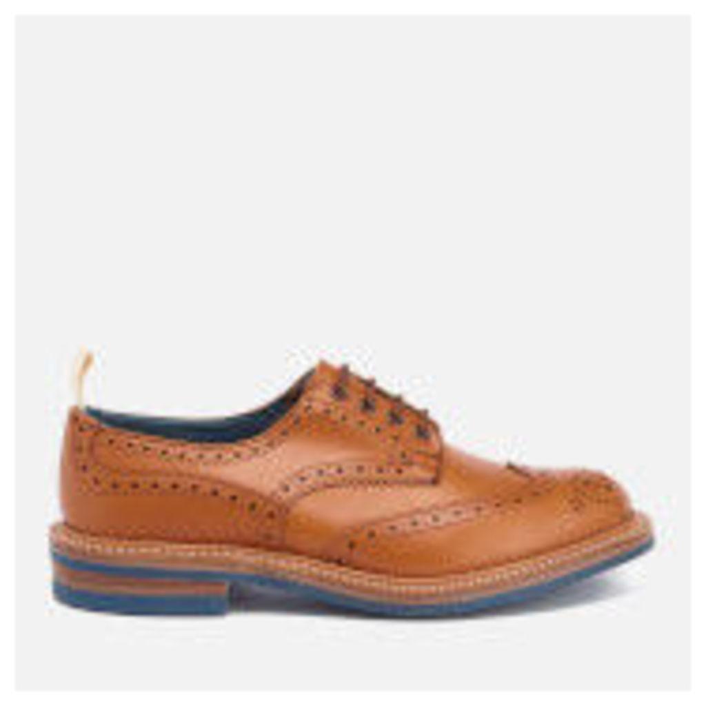 Tricker's Men's Bourton Revival Leather Brogues - Acorn/Blue Sole - UK 7