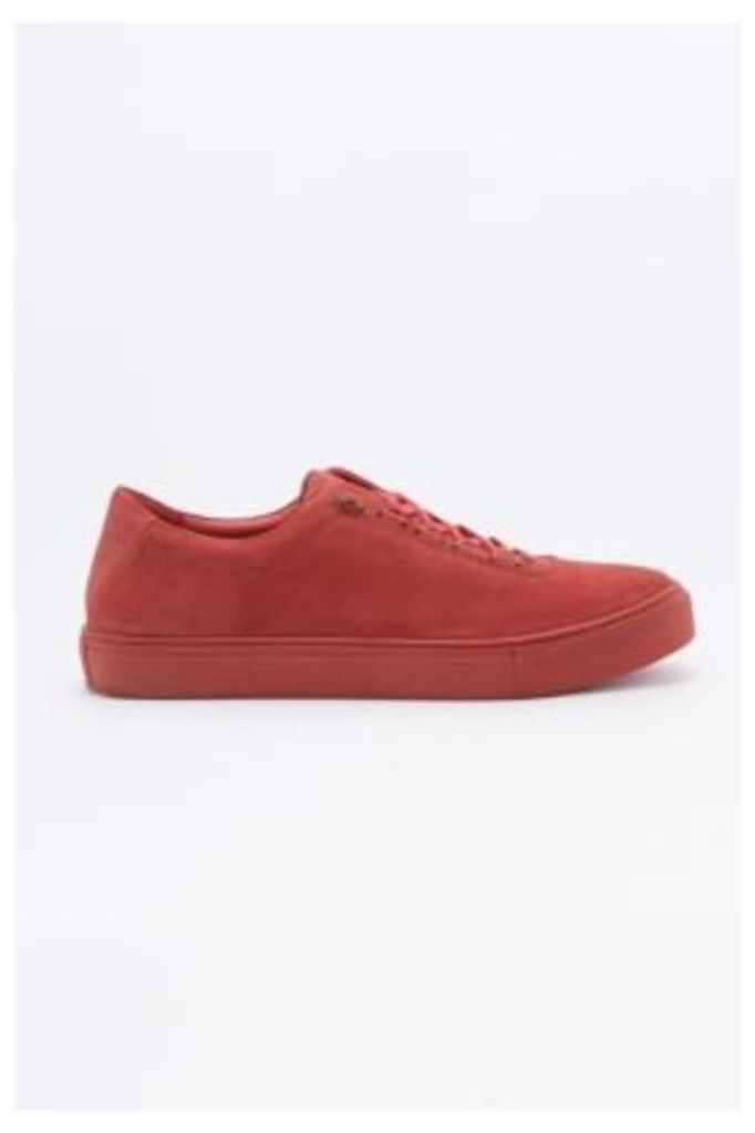 K-Swiss Court Classico Red Suede Trainers, RED