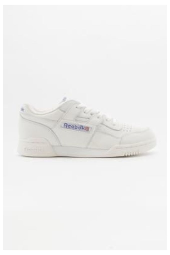 Reebok Workout Plus Classic Chalk White Trainers, IVORY