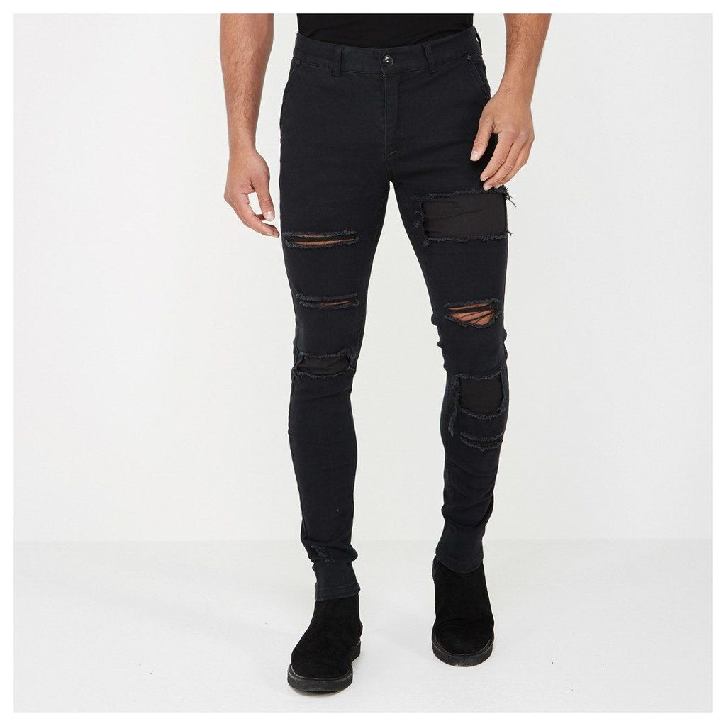 Extreme Distressed Jeans - Black
